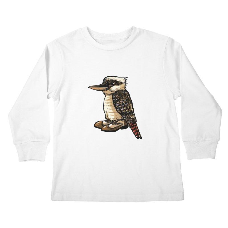 Kookaburra Kids Longsleeve T-Shirt by Simon Christopher Greiner