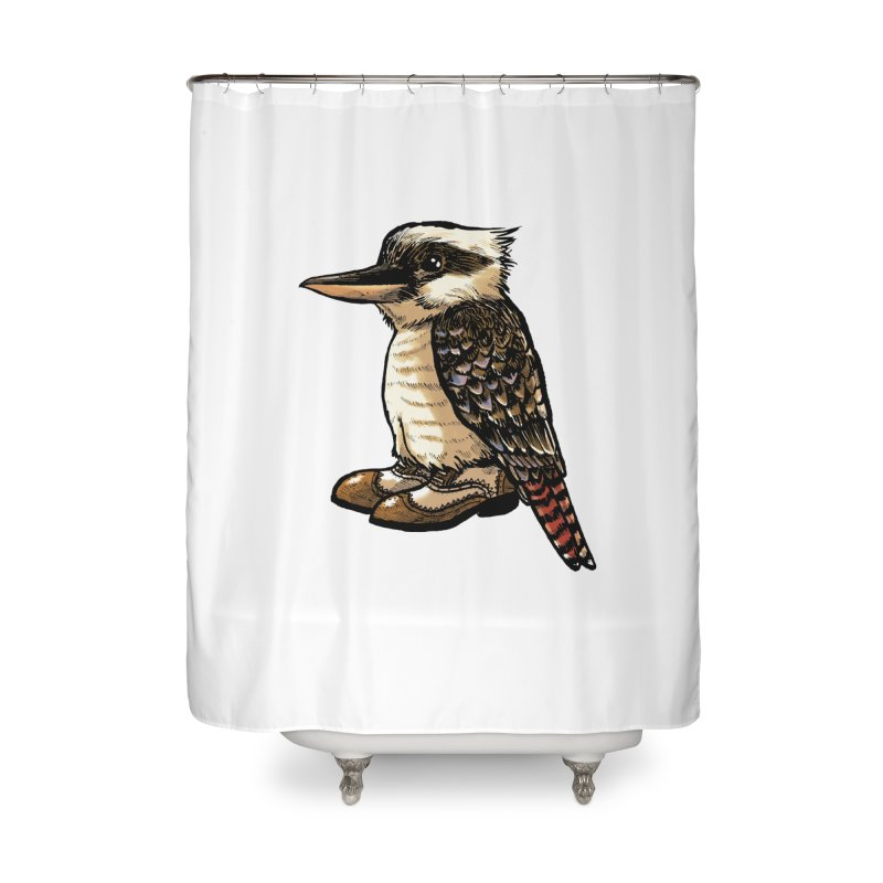 Kookaburra Home Shower Curtain by Simon Christopher Greiner