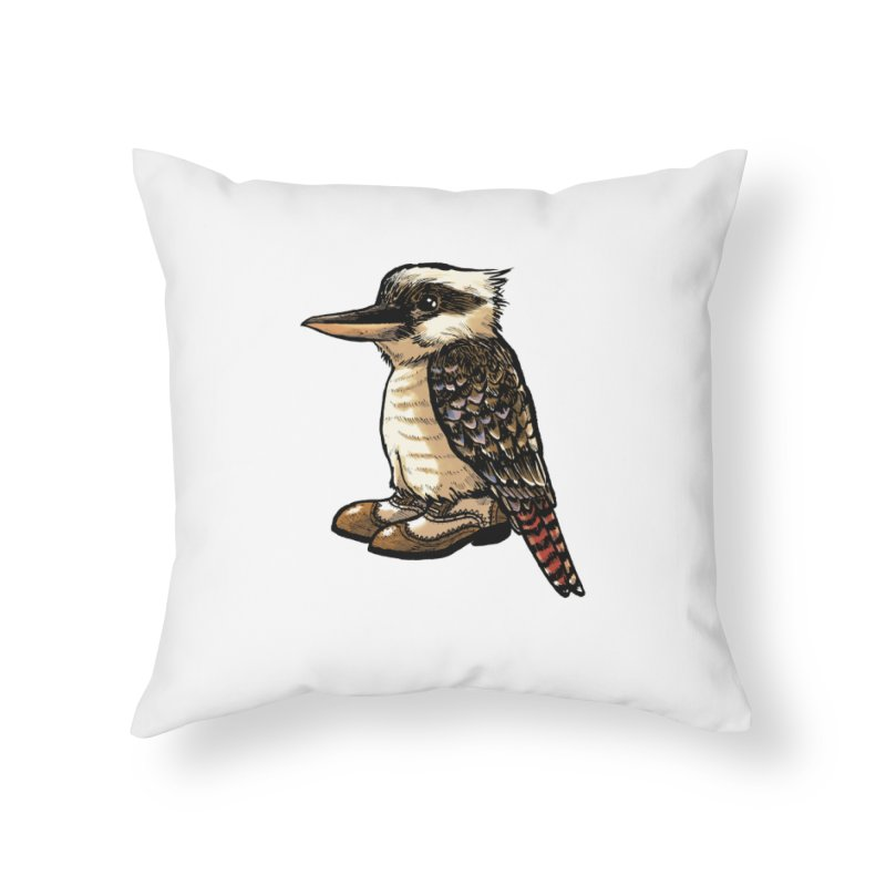 Kookaburra Home Throw Pillow by Simon Christopher Greiner