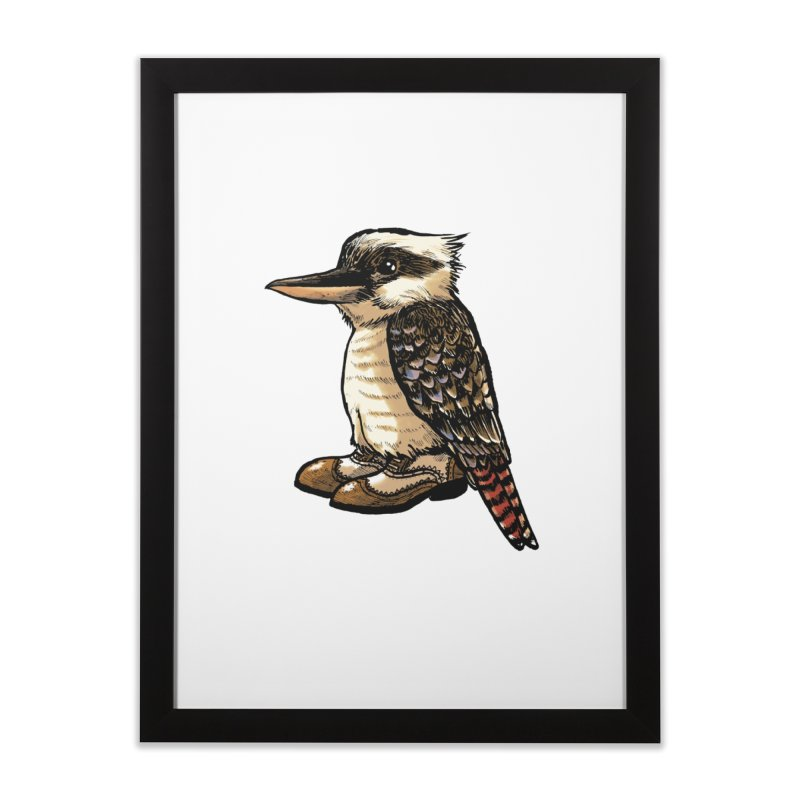 Kookaburra Home Framed Fine Art Print by Simon Christopher Greiner