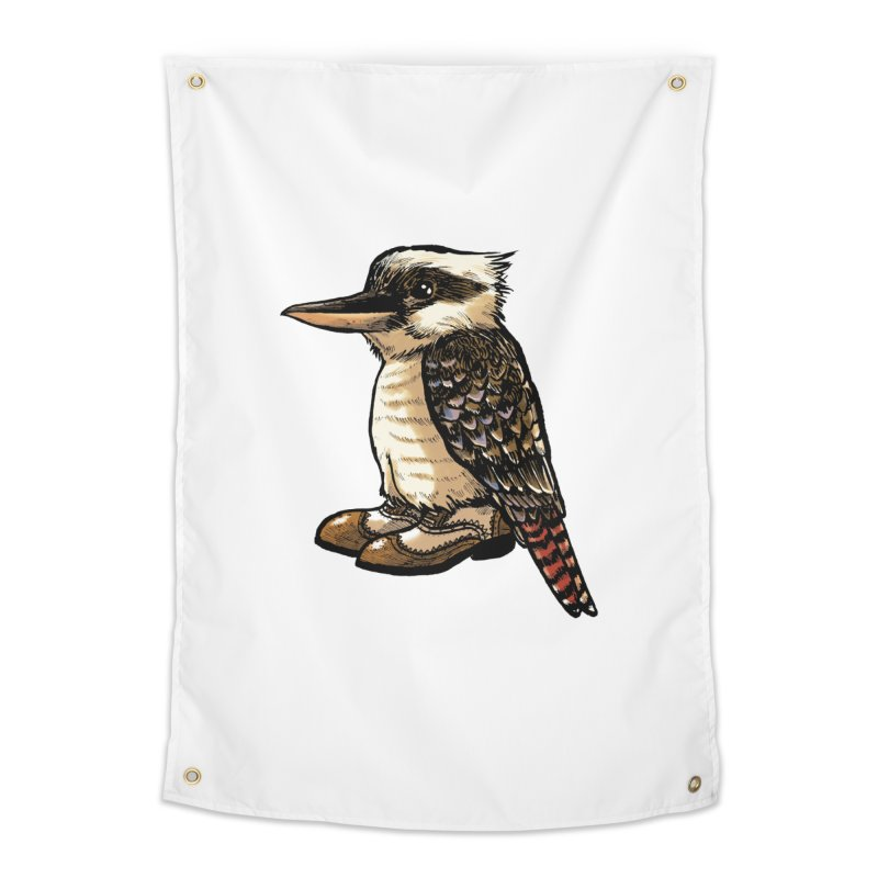 Kookaburra Home Tapestry by Simon Christopher Greiner