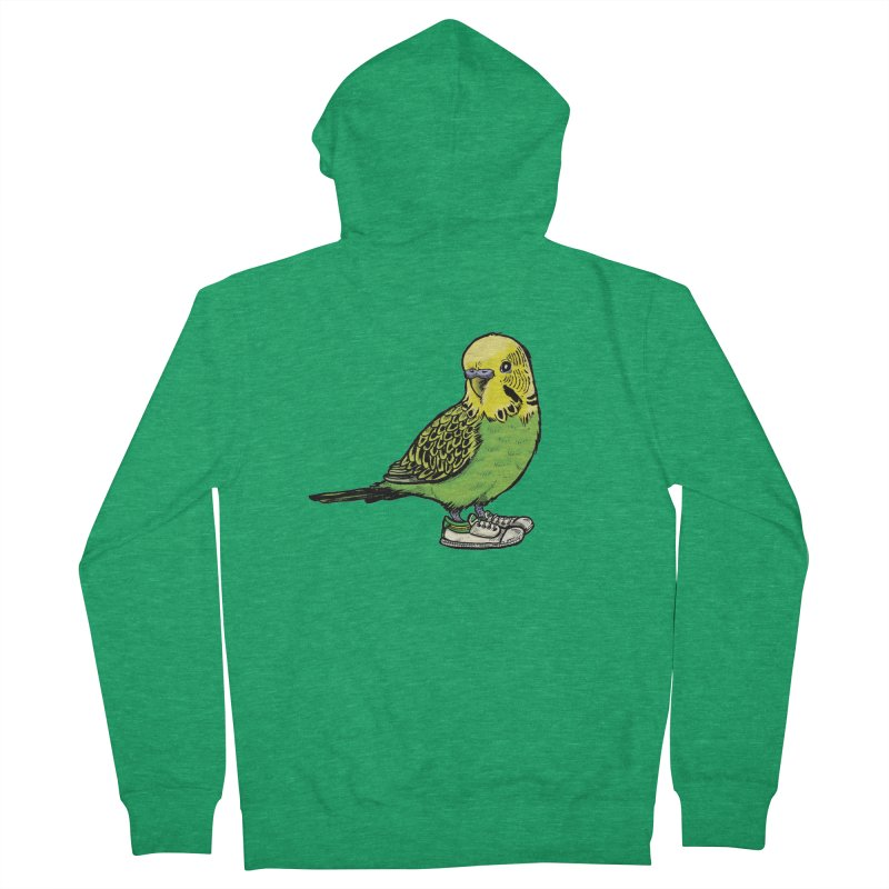 Budgie Men's Zip-Up Hoody by Simon Christopher Greiner