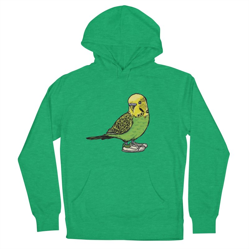 Budgie Women's French Terry Pullover Hoody by Simon Christopher Greiner