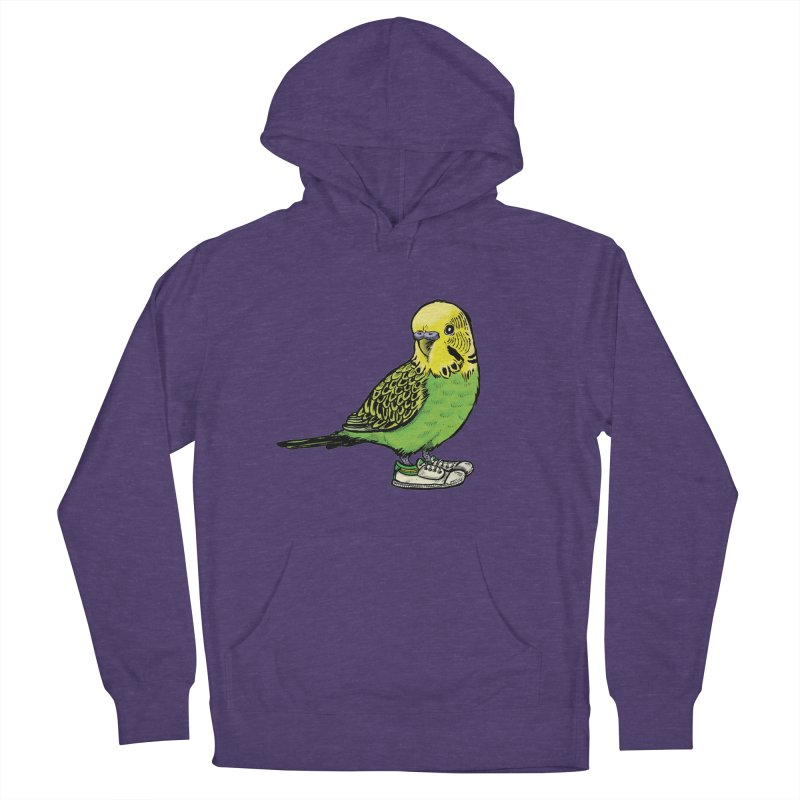 Budgie Men's French Terry Pullover Hoody by Simon Christopher Greiner