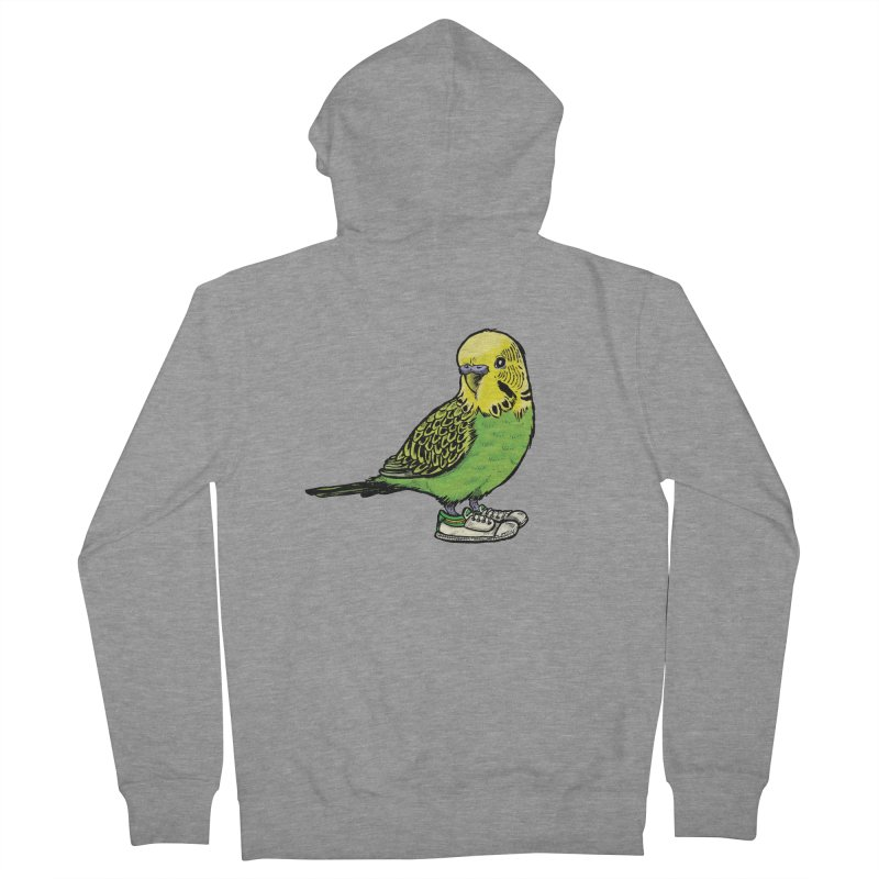 Budgie Men's French Terry Zip-Up Hoody by Simon Christopher Greiner