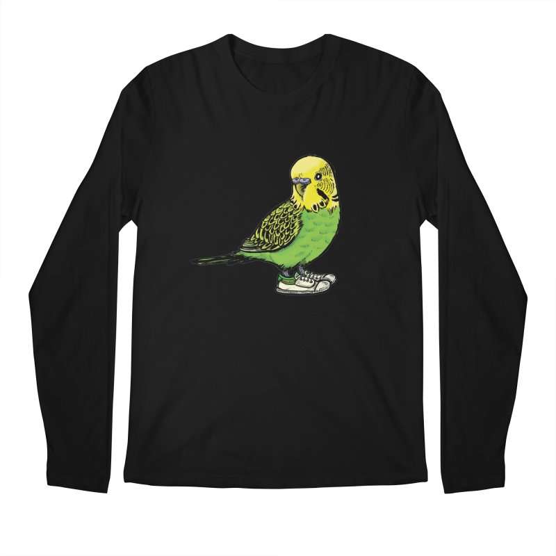 Budgie Men's Longsleeve T-Shirt by Simon Christopher Greiner