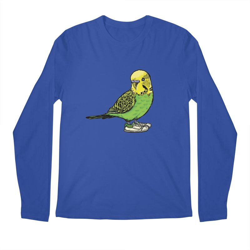 Budgie Men's Regular Longsleeve T-Shirt by Simon Christopher Greiner