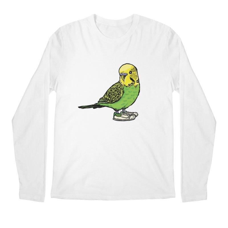Budgie Men's Longsleeve T-Shirt by Simon Christopher Greiner