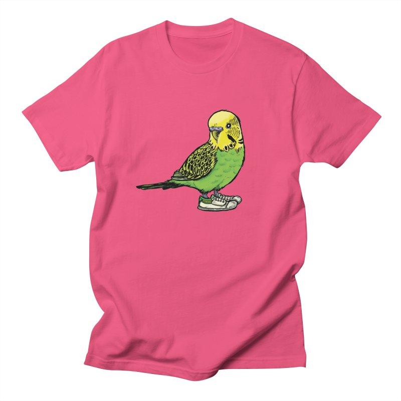 Budgie Men's T-Shirt by Simon Christopher Greiner