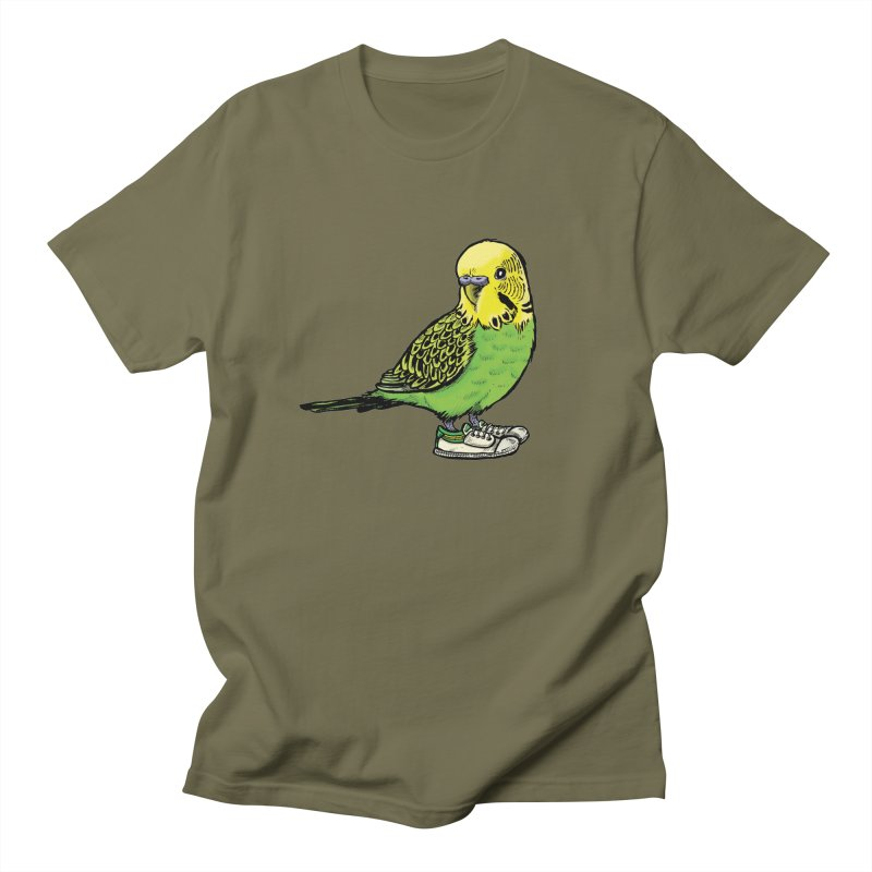 Budgie Men's Regular T-Shirt by Simon Christopher Greiner