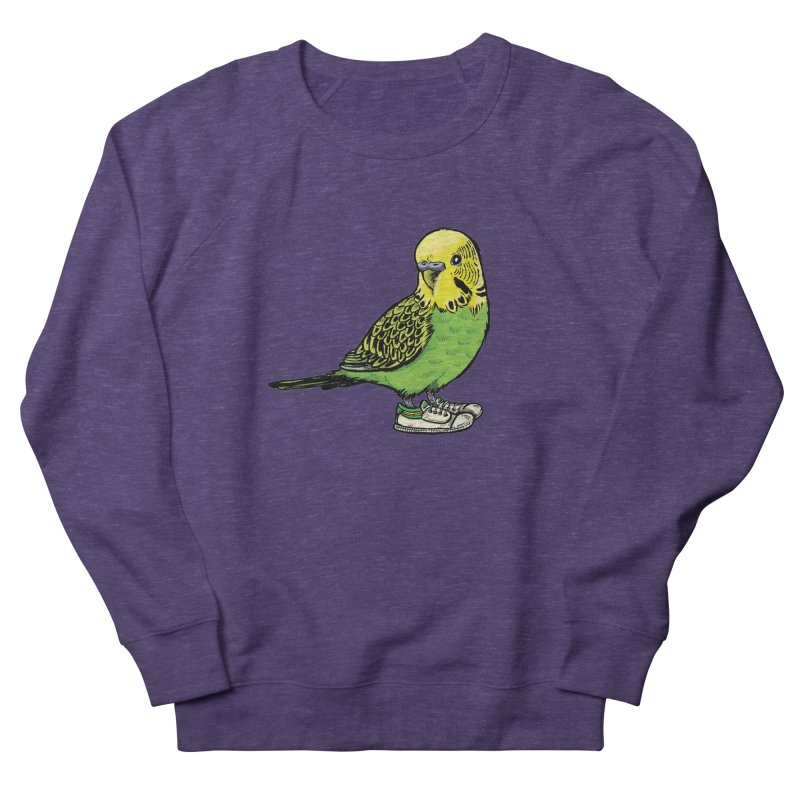 Budgie Women's French Terry Sweatshirt by Simon Christopher Greiner