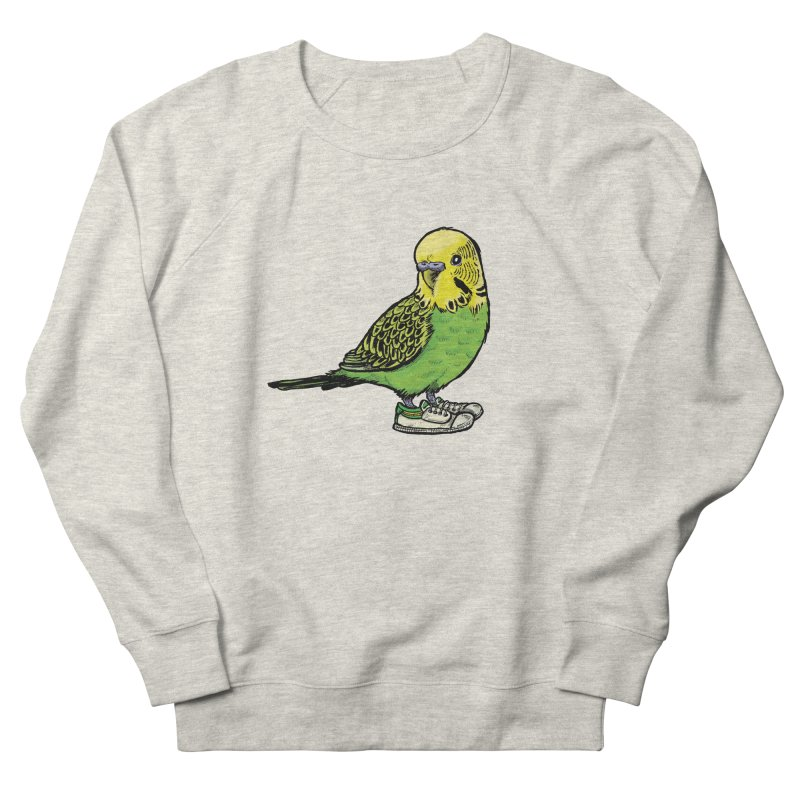 Budgie Men's French Terry Sweatshirt by Simon Christopher Greiner