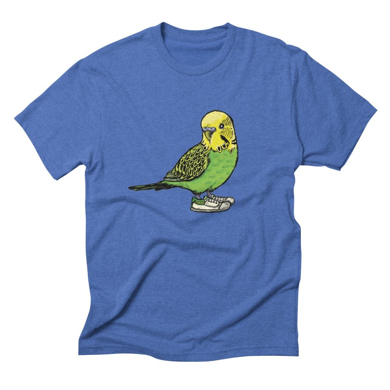 Budgie Men's T-Shirt by Simon Christopher Greiner