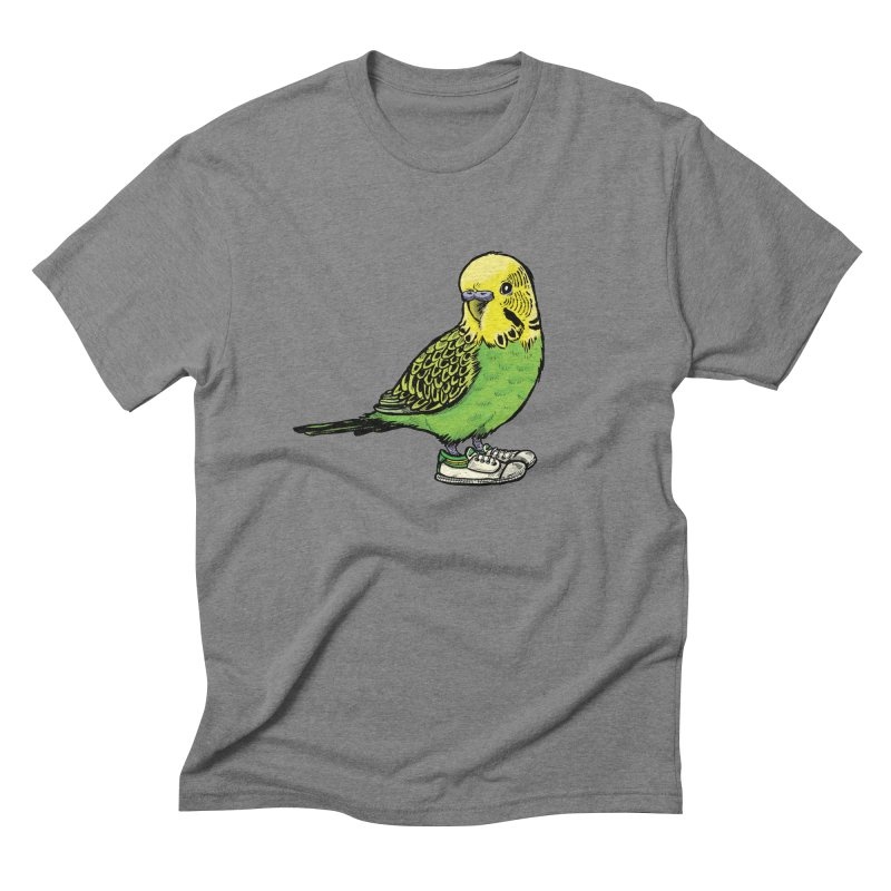 Budgie Men's Triblend T-shirt by Simon Christopher Greiner