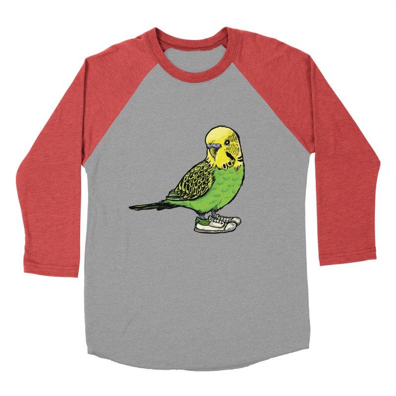 Budgie Women's Baseball Triblend T-Shirt by Simon Christopher Greiner