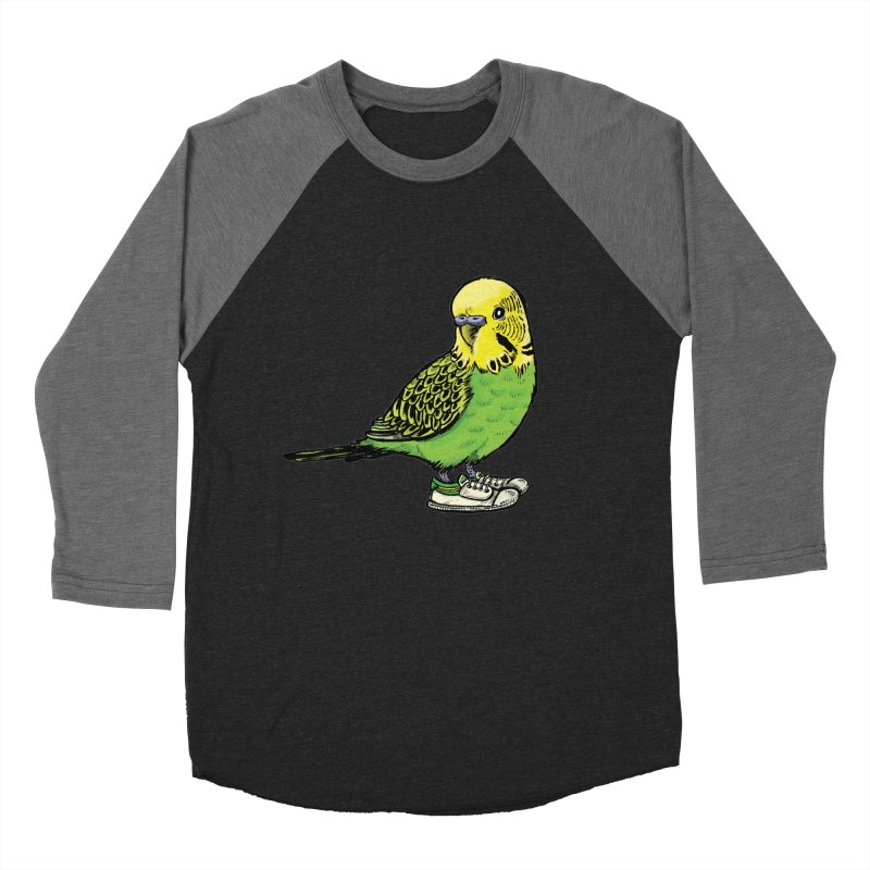 Budgie Women's Baseball Triblend Longsleeve T-Shirt by Simon Christopher Greiner