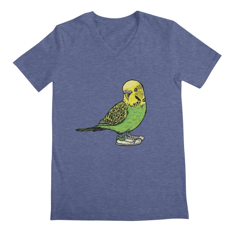 Budgie Men's V-Neck by Simon Christopher Greiner