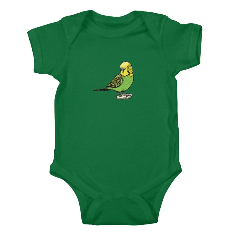 Budgie Kids Baby Bodysuit by Simon Christopher Greiner