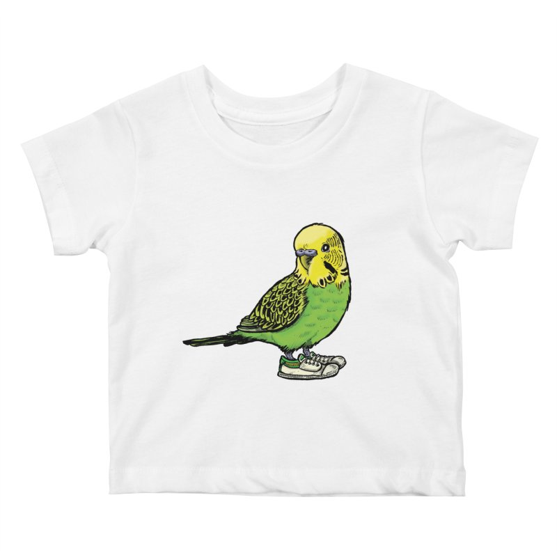 Budgie Kids Baby T-Shirt by Simon Christopher Greiner
