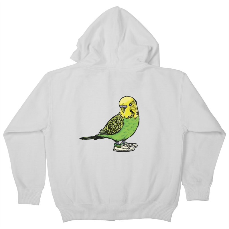 Budgie Kids Zip-Up Hoody by Simon Christopher Greiner