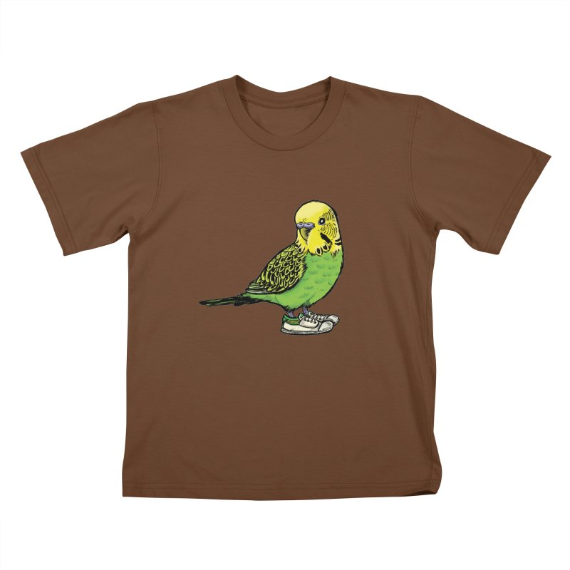Budgie Kids T-Shirt by Simon Christopher Greiner