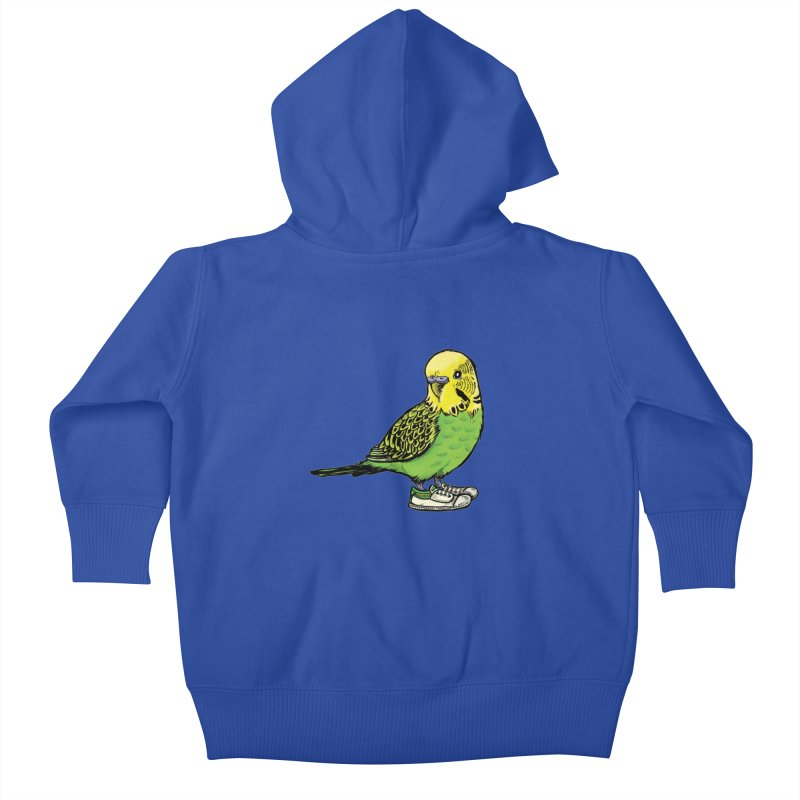 Budgie Kids Baby Zip-Up Hoody by Simon Christopher Greiner