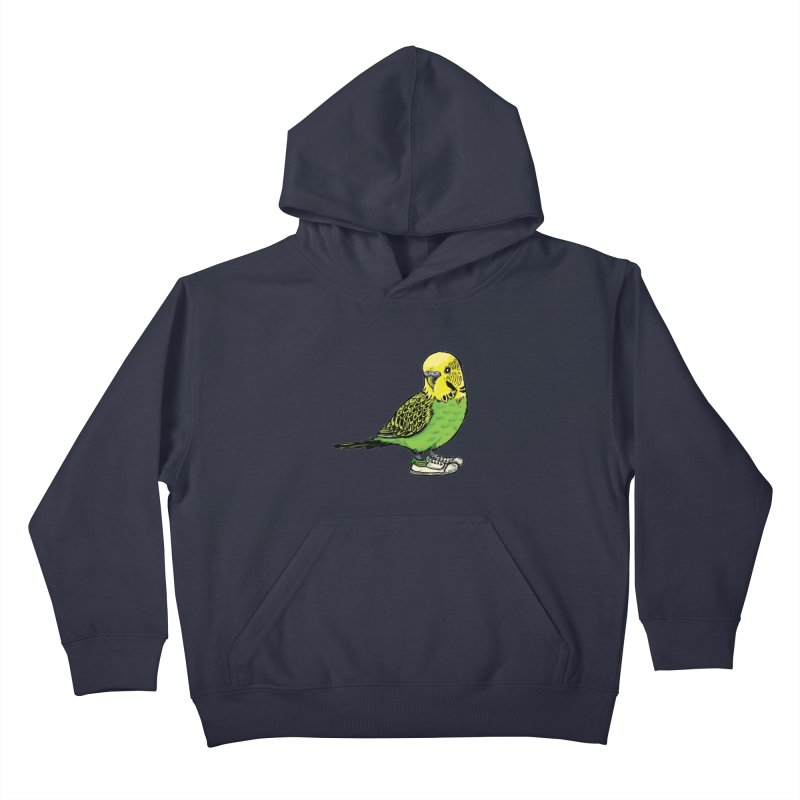 Budgie Kids Pullover Hoody by Simon Christopher Greiner