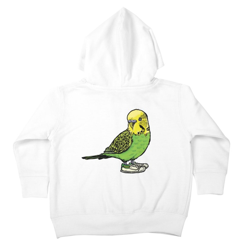 Budgie Kids Toddler Zip-Up Hoody by Simon Christopher Greiner