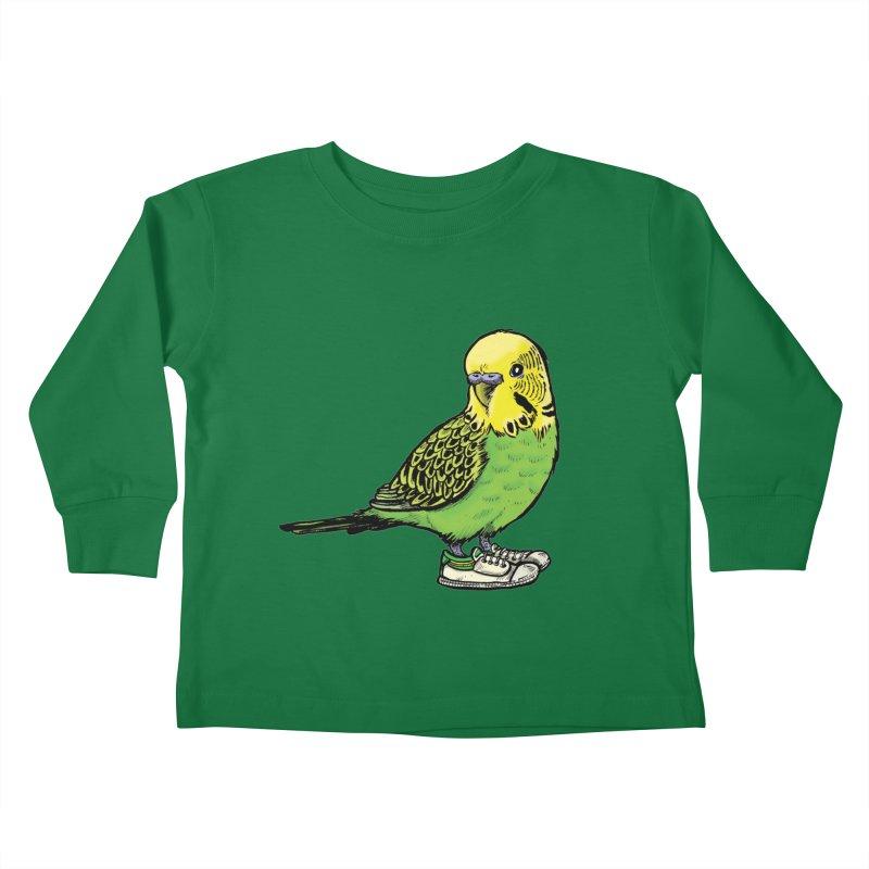 Budgie Kids Toddler Longsleeve T-Shirt by Simon Christopher Greiner