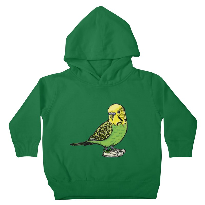 Budgie Kids Toddler Pullover Hoody by Simon Christopher Greiner