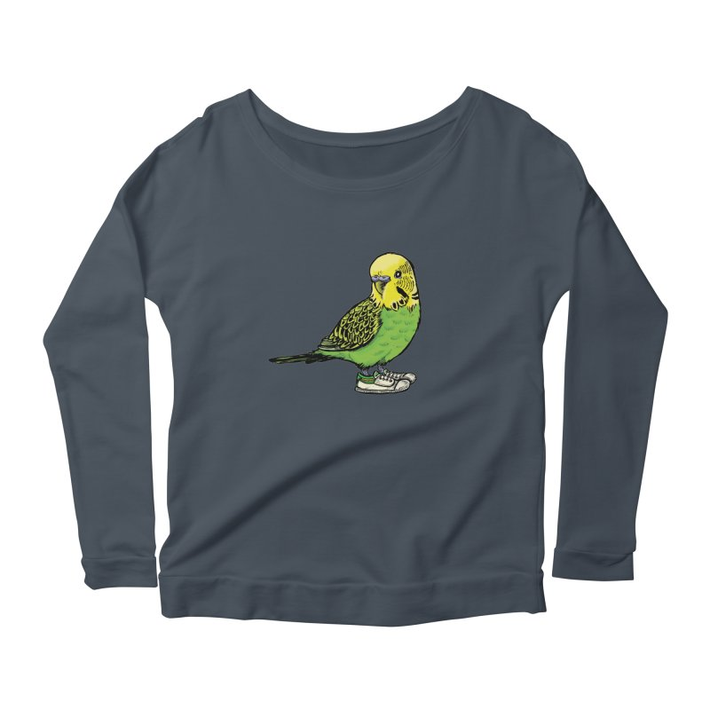 Budgie Women's Scoop Neck Longsleeve T-Shirt by Simon Christopher Greiner