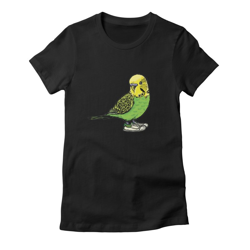 Budgie Women's Fitted T-Shirt by Simon Christopher Greiner
