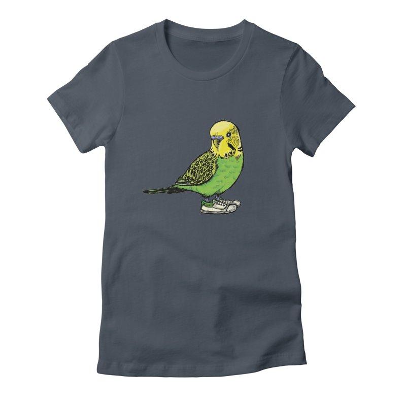 Budgie Women's T-Shirt by Simon Christopher Greiner