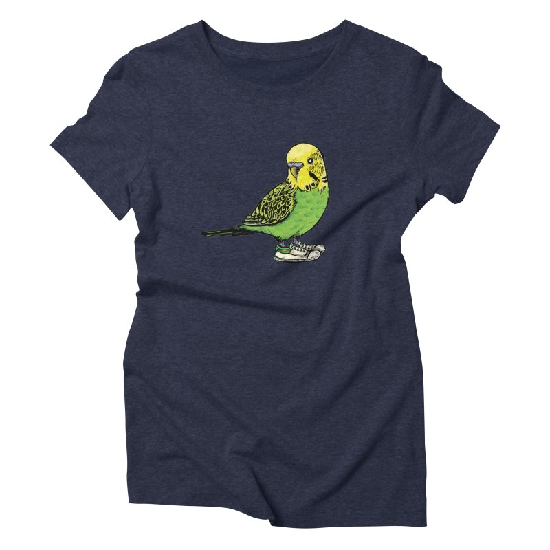 Budgie Women's Triblend T-Shirt by Simon Christopher Greiner