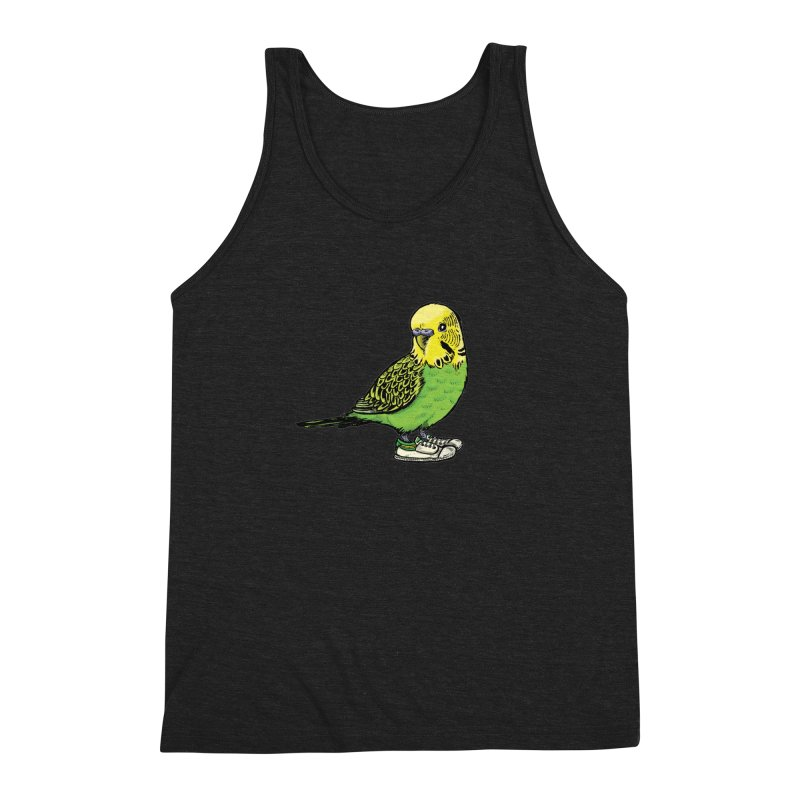 Budgie Men's Triblend Tank by Simon Christopher Greiner