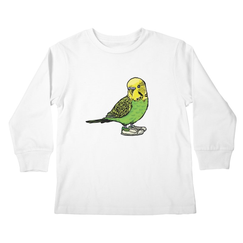 Budgie Kids Longsleeve T-Shirt by Simon Christopher Greiner