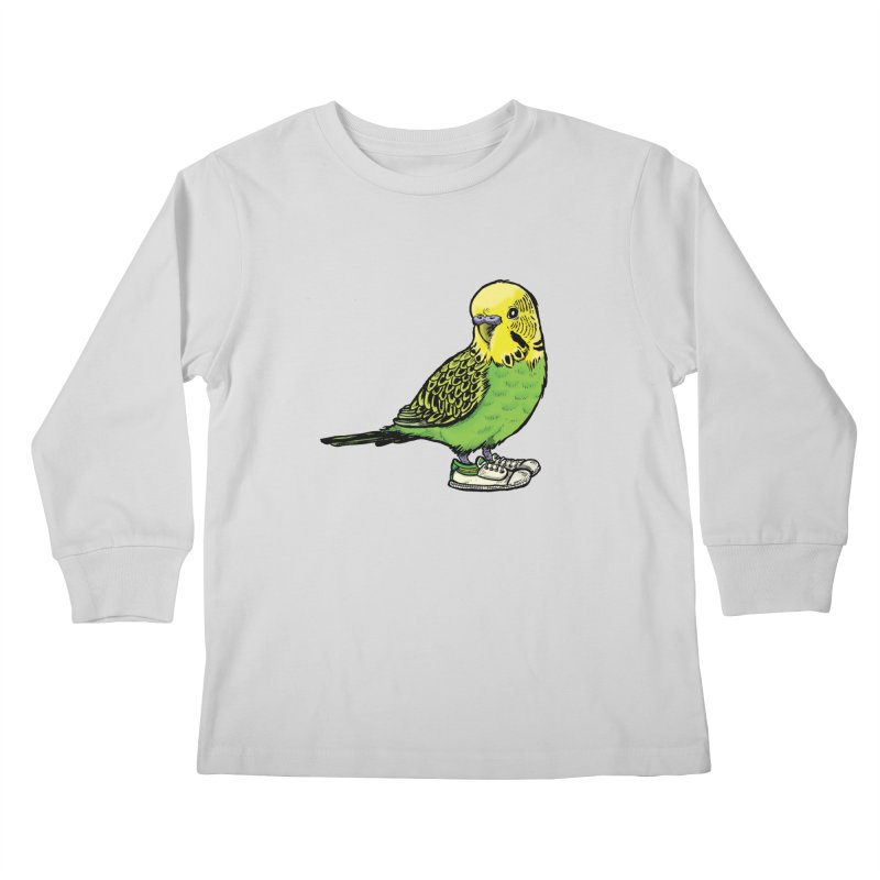Budgie Kids Longsleeve T-Shirt by Simon Christopher Greiner