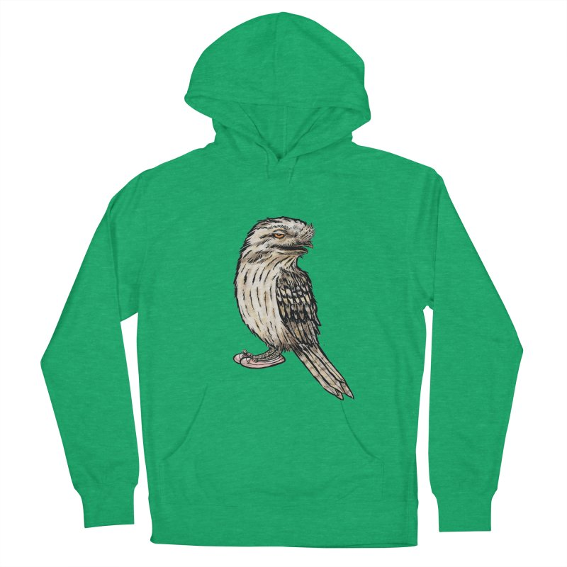Tawny Frogmouth Women's French Terry Pullover Hoody by Simon Christopher Greiner