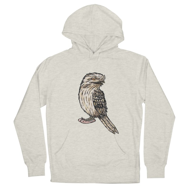 Tawny Frogmouth Men's French Terry Pullover Hoody by Simon Christopher Greiner