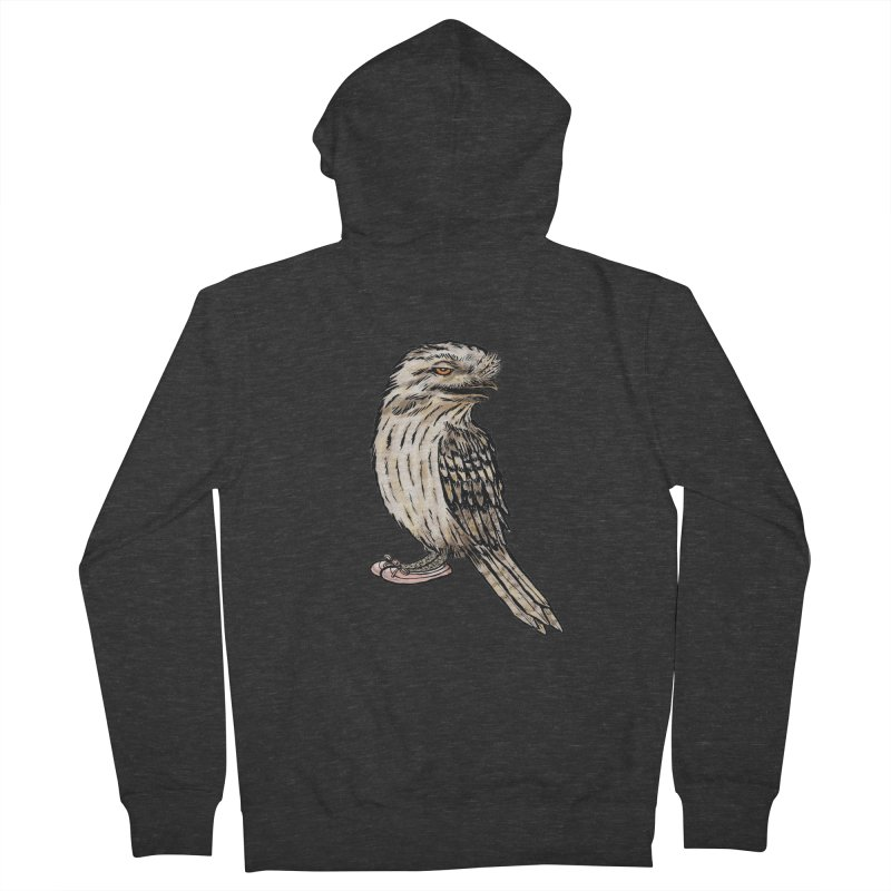 Tawny Frogmouth Women's French Terry Zip-Up Hoody by Simon Christopher Greiner
