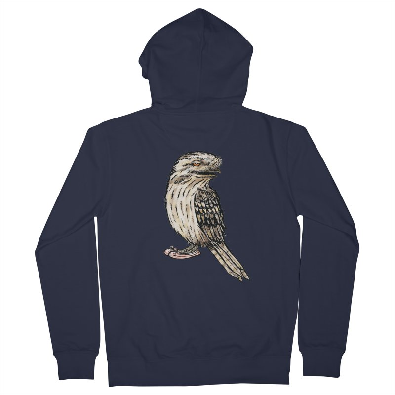 Tawny Frogmouth Women's Zip-Up Hoody by Simon Christopher Greiner
