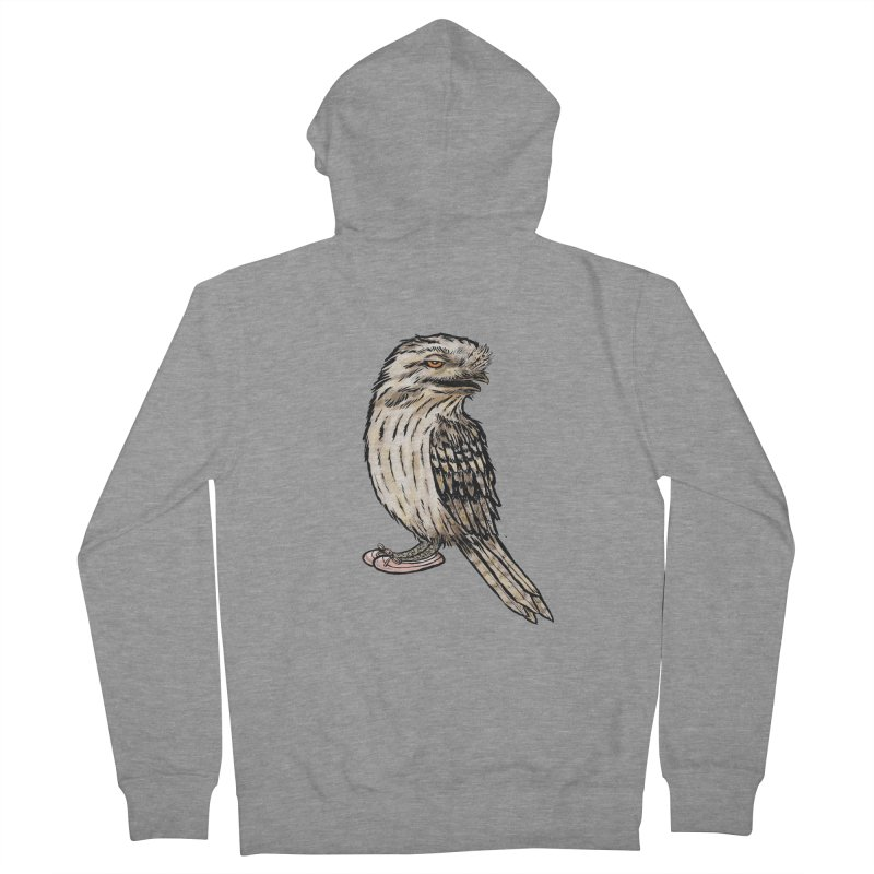 Tawny Frogmouth Men's French Terry Zip-Up Hoody by Simon Christopher Greiner