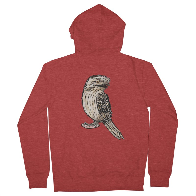 Tawny Frogmouth Men's Zip-Up Hoody by Simon Christopher Greiner