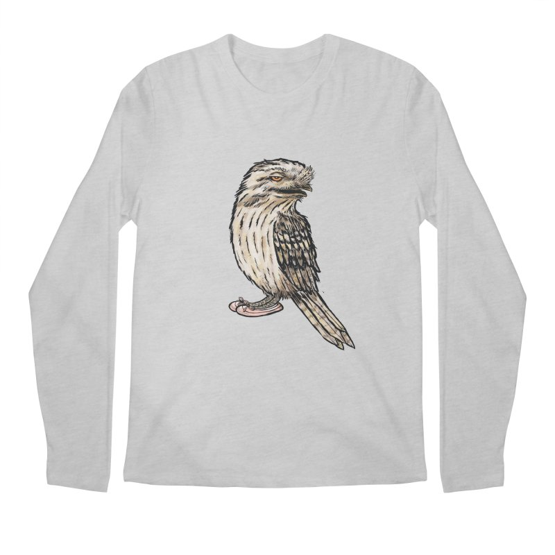 Tawny Frogmouth Men's Regular Longsleeve T-Shirt by Simon Christopher Greiner