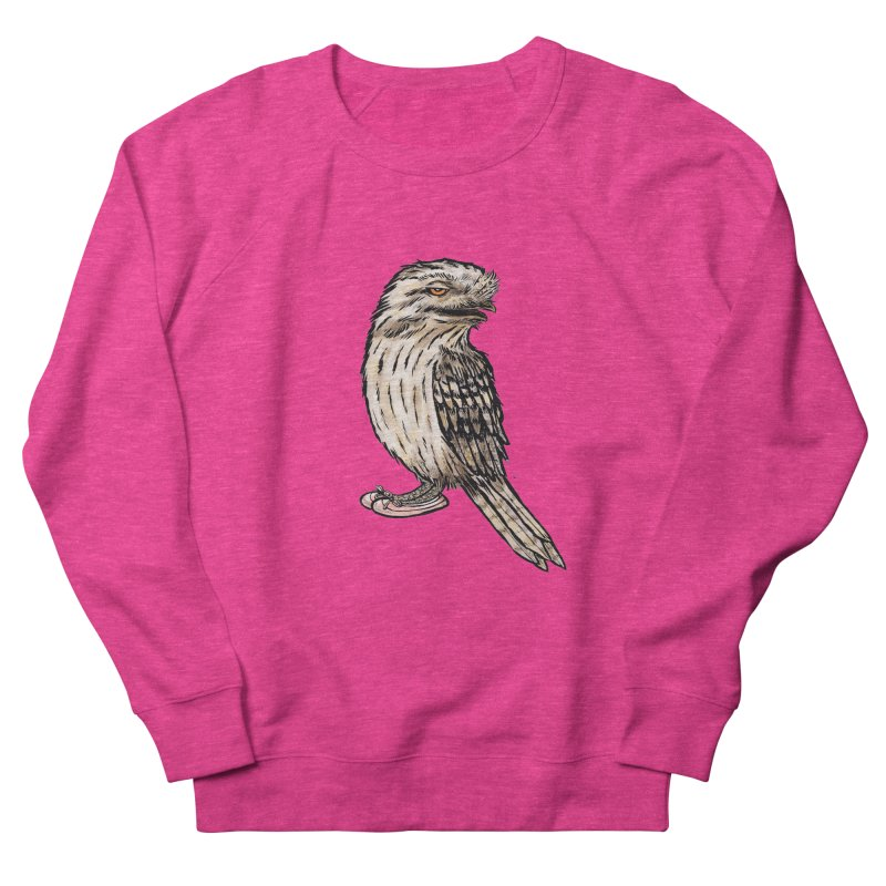 Tawny Frogmouth Women's French Terry Sweatshirt by Simon Christopher Greiner