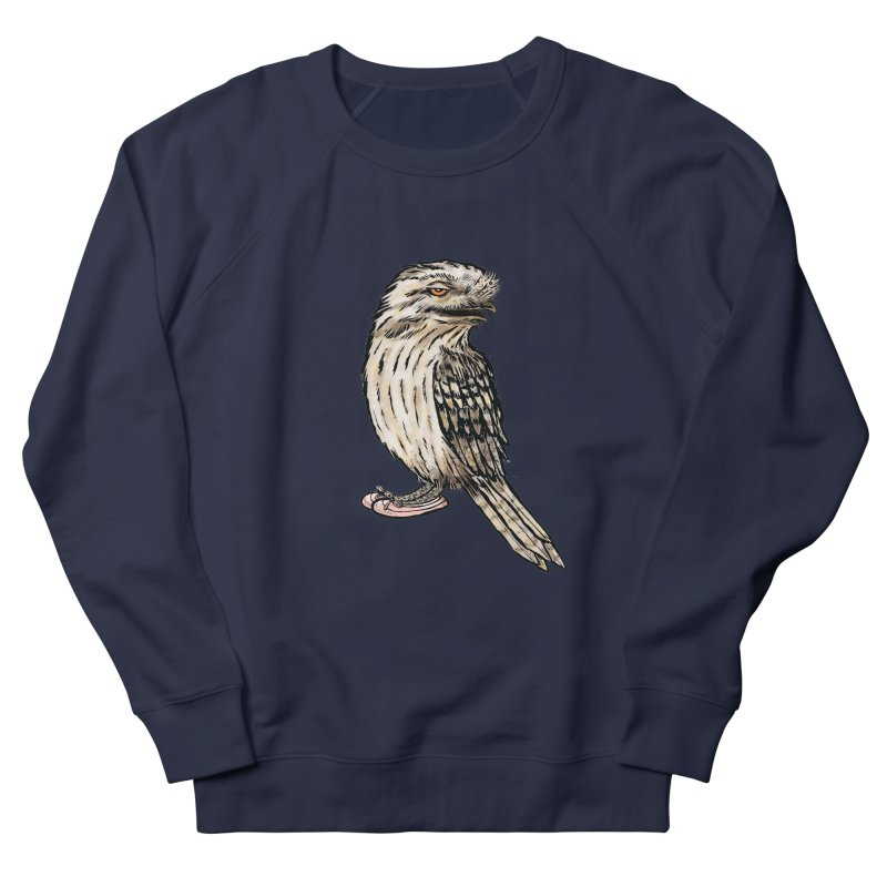 Tawny Frogmouth Men's French Terry Sweatshirt by Simon Christopher Greiner