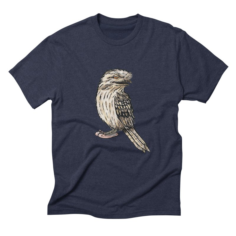 Tawny Frogmouth Men's Triblend T-Shirt by Simon Christopher Greiner