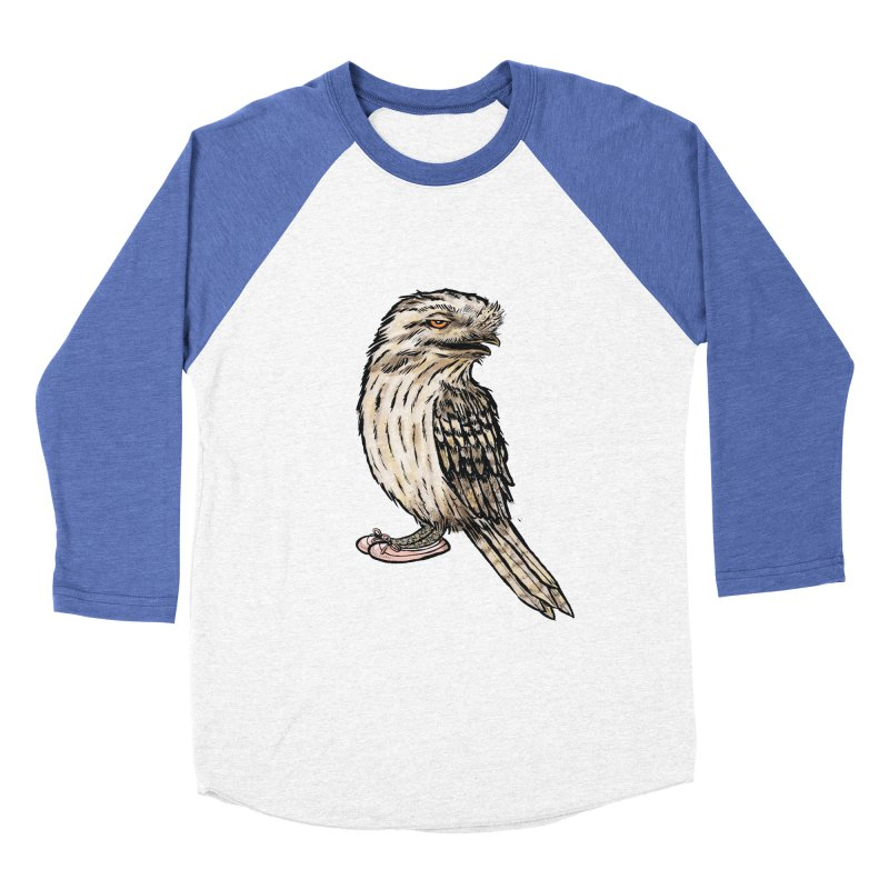 Tawny Frogmouth Women's Baseball Triblend T-Shirt by Simon Christopher Greiner