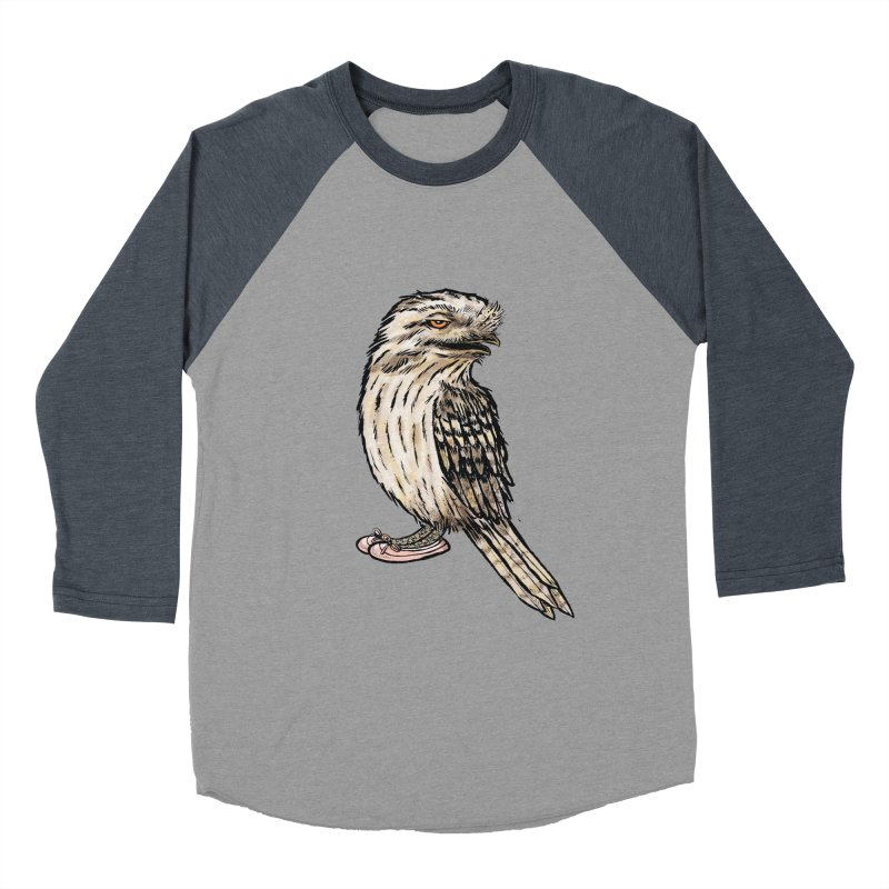 Tawny Frogmouth Men's Baseball Triblend T-Shirt by Simon Christopher Greiner