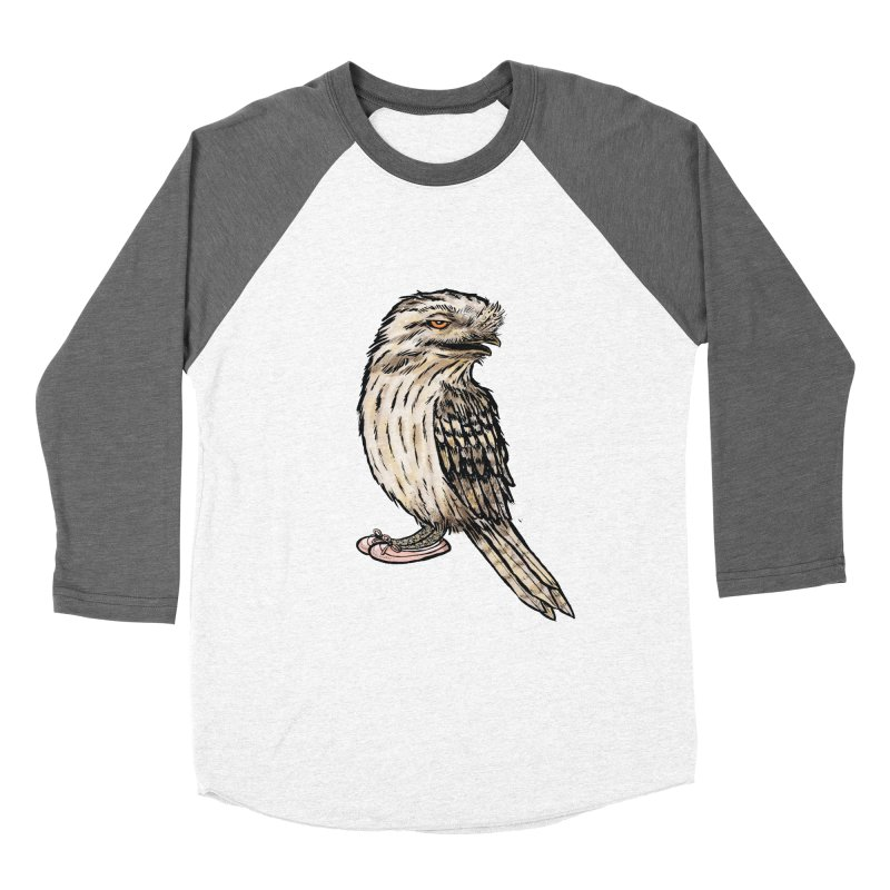 Tawny Frogmouth Men's Baseball Triblend Longsleeve T-Shirt by Simon Christopher Greiner